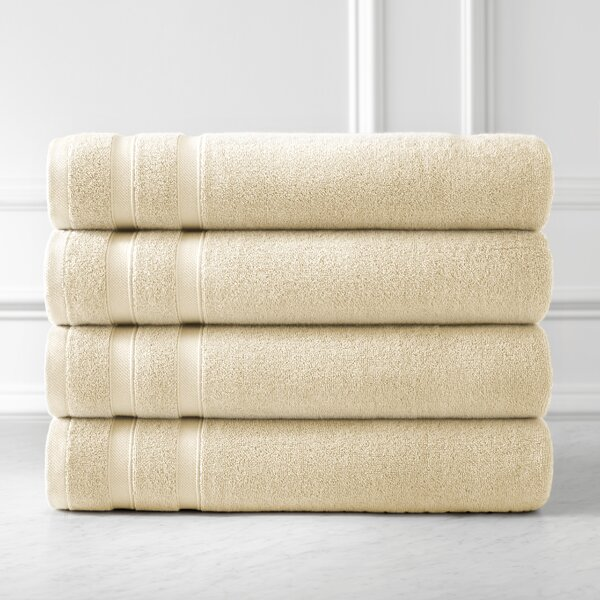 Premium Quality 100% Combed Cotton Bath Towel (Set of 4) by SouthShore Fine Linens
